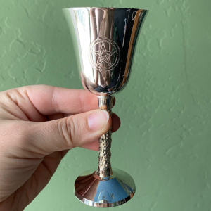 5 inch Silver Plate Chalice with Pentacle