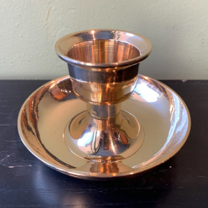 Brass Candle Holder with Drip Tray