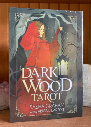 Dark Wood Tarot Deck & Book Set