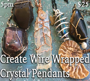 Create your own Wire Wrapped Crystal Pendants