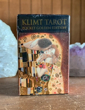 Golden Tarot of Klimt Mini Deck: Pocket Gold Edition