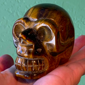 Tigers Eye Skull 3 inches